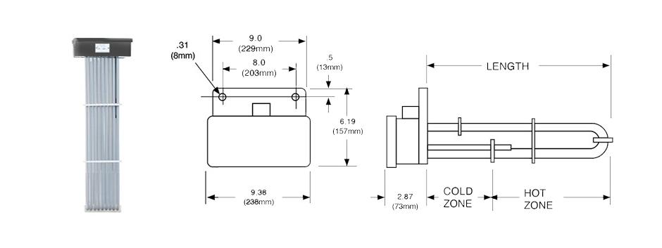 PTFE Nine Tube Immersion Heater Print