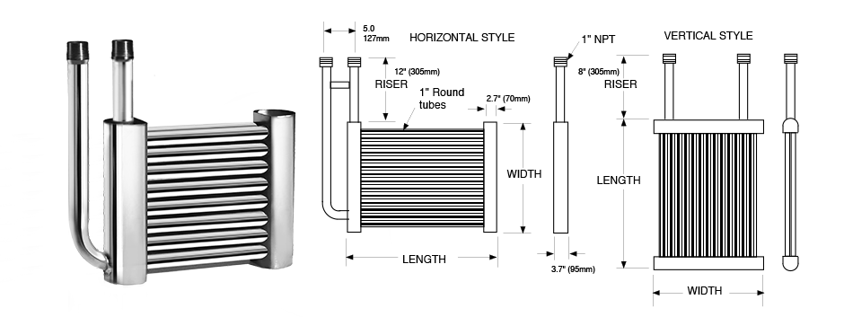 Round Tube Grid Coil Series Exchanger