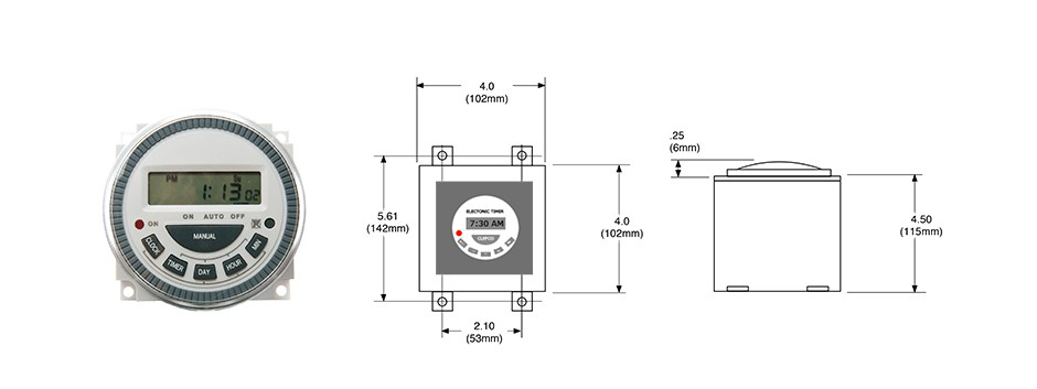 Industrial Digital Timer with LCD Screen