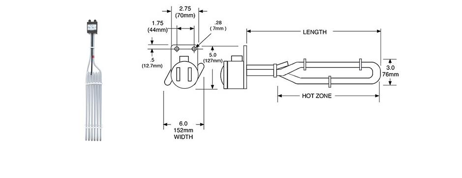 PTFE Electric Tubular Acid Plating Heater Print